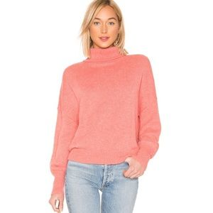 Tularosa turtleneck sweater with puffed sleeve